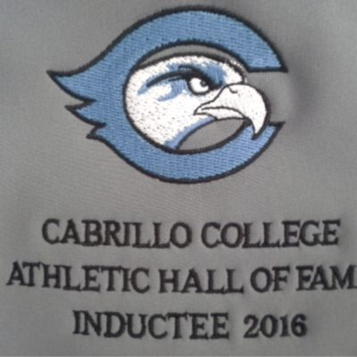 Embroidery Example - Cabrillo College Hall of Fame