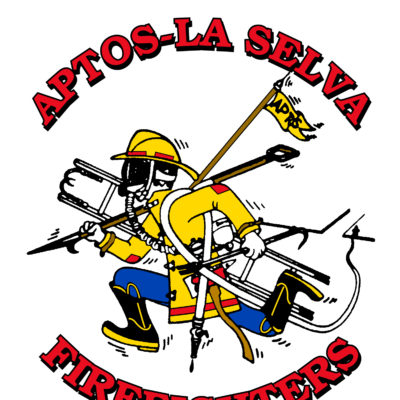 Screen Printing Artwork Render - Aptos Firefighters