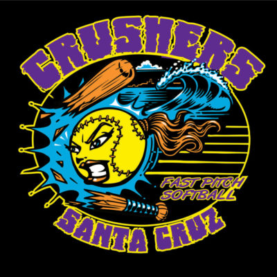 Screen Printing Artwork Render - Crushers Softball