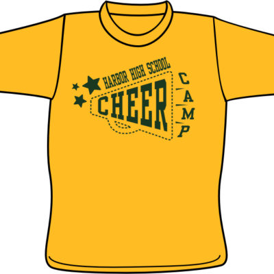 Screen Printing Artwork Render - Harbor High School Cheer