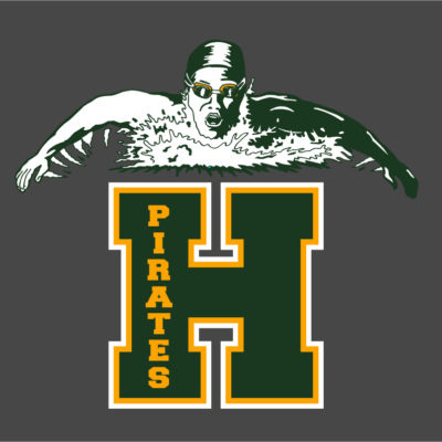 Screen Printing Artwork Render - Harbor High School Swimming
