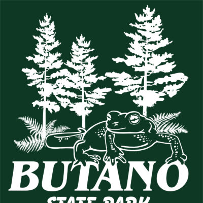 Screen Printing Artwork Render - Butano State Park