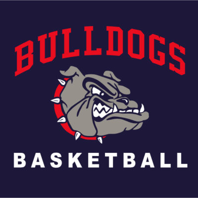 Screen Printing Artwork Render - Bulldogs Basketball